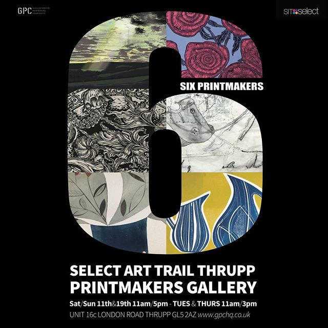 I am showing work @gpc_print gallery with 5 other artists in May. Part of @sitselect #selectarttrail2019 we are @curiouscloth @arthur_j_penn @ggodwyer @emilylucasart @faisalkhouja  @eppie.short see pages 52-55 in brochure on line. Private view is on Friday 10th May 6-8pm together with artists based at @pegasusartshop