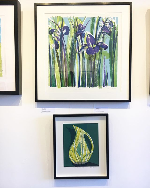Pictures on the wall @gpc_print open studio #selectarttrail2019  do come and see our work, it's on tomorrow 11-6 and next weekend 11-6. I am running a drop in printing on fabric workshop 11-1 next Saturday and I will be in the gallery next Sunday morning 11 – 2pm
