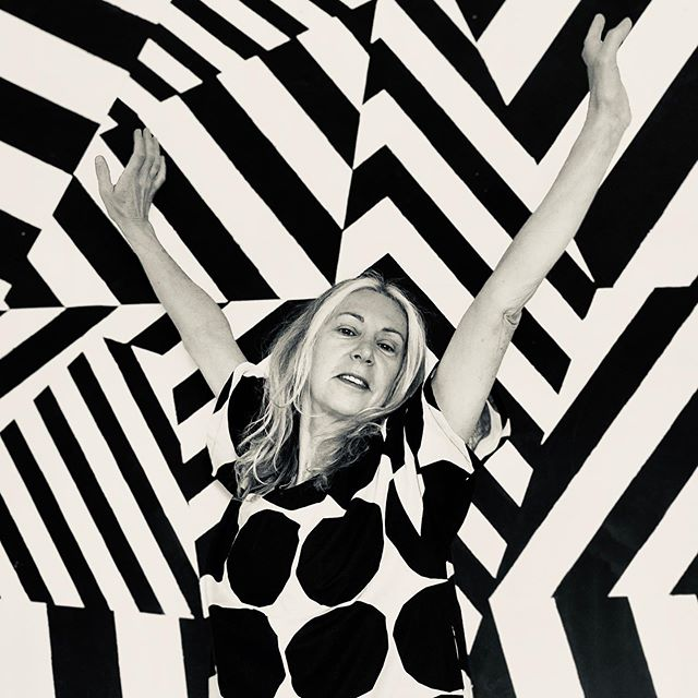 getting lost in #marimekko dress shot in front of @walter.l_  #dazzle bedroom wall painting