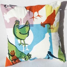 chicken cushion       mixed colours