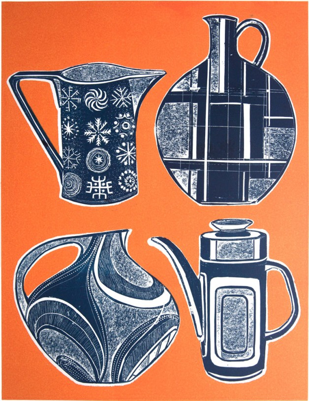 Mid Century Jugs 1 orange